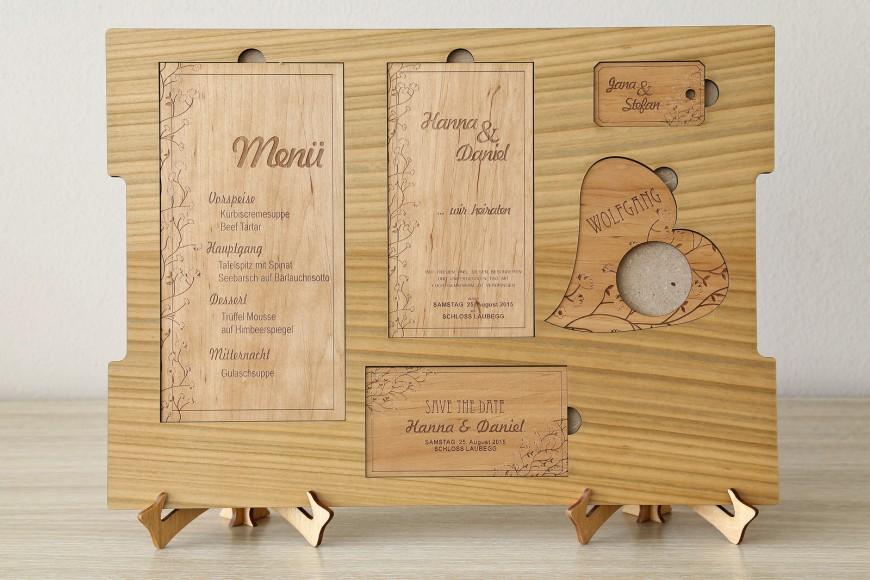 Wooden wedding invitations – FOTO REGA